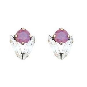 Loren Hope Arista Stud Earrings in Purple Opal
